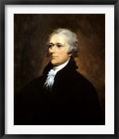Framed Founding Father Alexander Hamilton