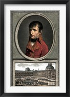 Framed Napoleon Bonaparte Above a Troop Review
