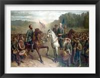 Framed Genernals Lee and Jackson on Horseback