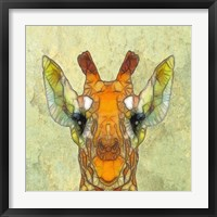 Framed Abstract Giraffe Calf