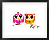 Framed Owl Love