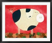 Framed Pig Newton