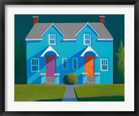 Framed Blue House