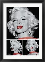 Framed Marilyn - Red Lips Trio