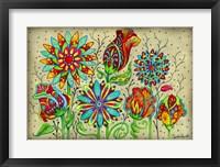 Framed Mosaic Flowers-Festival