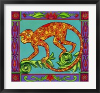 Framed Mosaic Monkey
