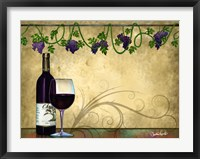 Framed Wine II With Vines