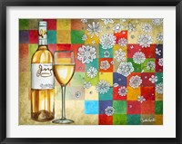 Framed Wine With White Squares