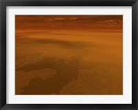 Framed Artist's concept of the Surface of Saturn's Moon Titan