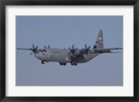 Framed C-130J Super Hercules of the 317th Airlift Group in Flight Over Germany