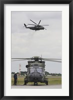 Framed German Army NH90 and its Predecessor, the CH-53 Sea Stallion
