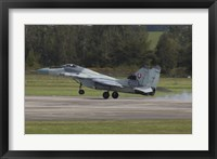 Framed Slovak Air Force MiG-29AS Fulcrum Landing on the Runway