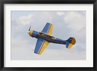 Framed Yakolev YAK-52 Plane Flying Over Czech Republic