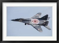 Framed MiG-29 Fulcrum of the Polish Air Force in Flight