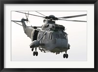 Framed SH-3D Sea King Helicopter of the Spanish Navy