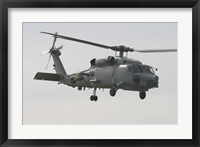 Framed SH-60B Seahawk of the Spanish Navy in Flight Over Rota, Spain
