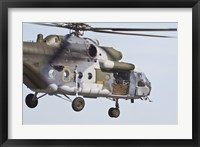 Framed Czech Air Force Mi-171