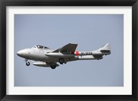 Framed De Havilland DH 112 Venom Jet Trainer of the Swiss Air Force