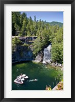 Framed Waterfall, Desolation Sound, British Columbia