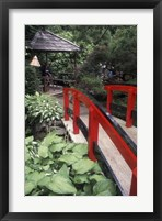 Framed Japanese Garden at Butchart Gardens, Vancouver Island, British Columbia, Canada
