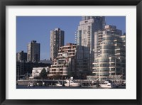 Framed Vancouver Skyline From Granville Island, British Columbia, Canada