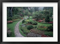 Framed Butchart Gardens, Vancouver Island, British Columbia, Canada