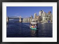 Framed Aquabus, Vancouver, British Columbia, Canada