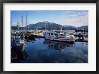 Framed Fishing Boats, Prince Rupert, British Columbia, Canada