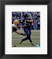 Framed Marshawn Lynch NFC Championship Game Action 2014 Playoffs
