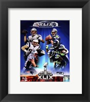 Framed Super Bowl XLIX Seattle Seahawks Vs. New England Patriots Match Up Composite