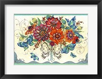 Framed Frilly Floral