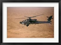 Framed AH-64D Apache Longbow Fires a Hydra Rocket over Northern Iraq