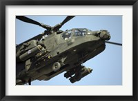 Framed AH-64 Apache in Flight