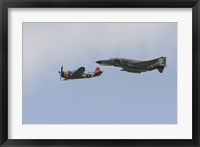 Framed P-47 Thunderbolt and an F-4 Phantom in Flight