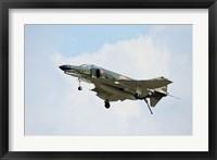 Framed F-4 Phantom in Flight over Houston, Texas