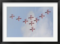 Framed Snowbirds 431 Air Demonstration