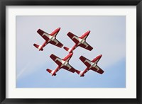 Framed Snowbirds 43 Squadron of the Royal Canadian Air Force