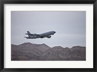 Framed KC-135 Stratotanker Takes off from Nellis Air Force Base, Nevada
