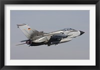 Framed German Air Force Tornado ECR taking off over Germany