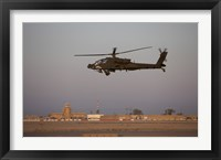 Framed AH-64D Apache Longbow Block III Flies by the Control Tower on Camp Speicher