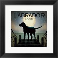 Framed Moonrise Black Dog