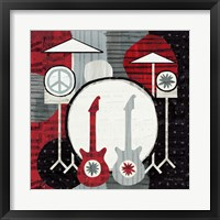 Framed Rock 'n Roll Drums