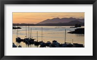 Framed Sunset at Tofino, Harbor, Vancouver Island, British Columbia