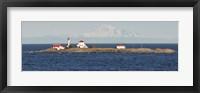 Framed British Columbia, Vancouver Island, Entrance Island, Mt Baker