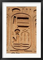 Framed Hieroglyphics, Obelisk, Ramses II, Temple of Luxor, Egypt