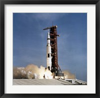 Framed Apollo 11 Space Vehicle Taking off from Kennedy Space Center
