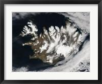 Framed Satellite view of Iceland