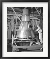 Framed Project Mercury Capsule Complete in Lewis Hangar
