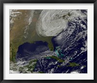 Framed Post Tropical Storm Sandy Rolling Inland