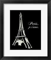 Framed Eiffel Tower (Popular French Cities)